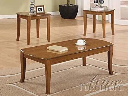 3-pc Pack baldwin Style Coffee Table Set in cherry Finish Acs90302