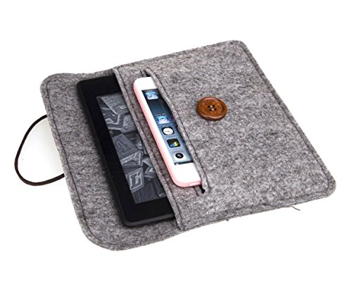Read About Bear Motion for Kindle - Premium Felt Sleeve Case for Kindle Paperwhite and Kindle Voyage