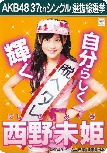 AKB48 B5 下敷き [西野未姫] New水着Ver.