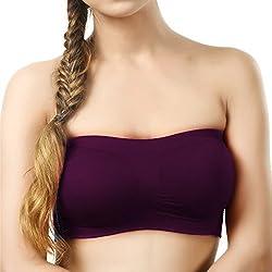BYC TB-1009 Purple Non-Padded Tube Bra for Girl's & Women-32