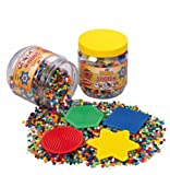 Hama Beads Activit Set 5,000 Beads and 4 Pegboards in a Tub (Yellow)