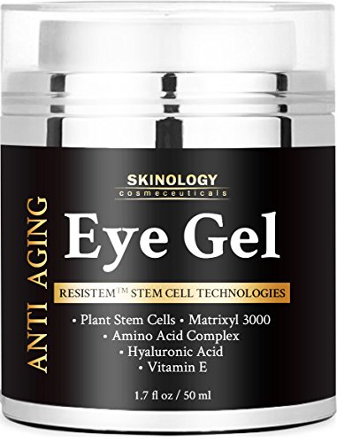 Eye Cream for Dark Circles, Wrinkles, Puffiness, Fine Lines & Bags - The Most Effective Eye Gel for Every Eye Concern - All Natural Anti Aging Skin Firming Gel Treatment for Men and Women - 1.7