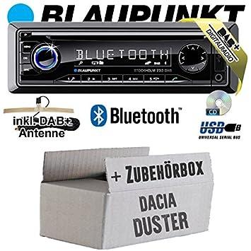 Dacia Duster-Blaupunkt Stockholm 230DAB-DAB +/CD/MP3/USB Kit de montage autoradio avec Bluetooth -