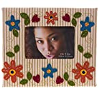 Floral Stitchwork Photo Frame
