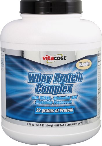 Vitacost Whey Protein Complex Powder with BCAAs Vanilla -- 5 lbs