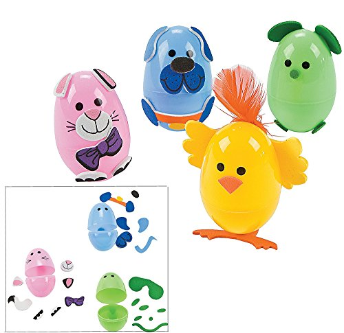 Animal easter egg decorating craft kit makes 12 eggs for Animal decoration games