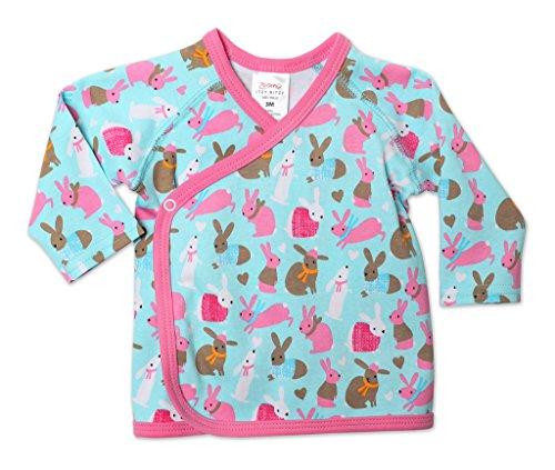 Zutano Baby-Girls Cottontail Kimono Top, Aqua, 3 Months