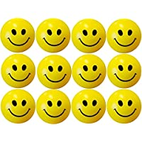 Smiley Face Squeeze Stress Balls - Pack Of 12 - 3 Inch [Toy]