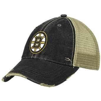 nhl boston bruins slouch fit adjustable mesh