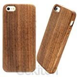 Gekiten Softbank au iPhone5 Wood Jacket Walnutwood �yiPhone 5 ��p �ؐ� �J�o�[ �i�ӓ� ����� �j�z GE-JKTAPIH501-W �摜
