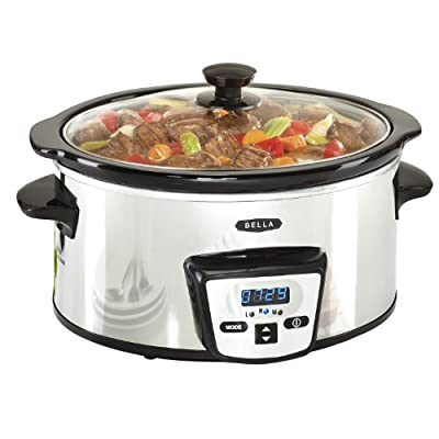 BELLA 13973 Programmable Slow Cooker, 5-Quart, Polished from D&H Distributing - Sensio Products