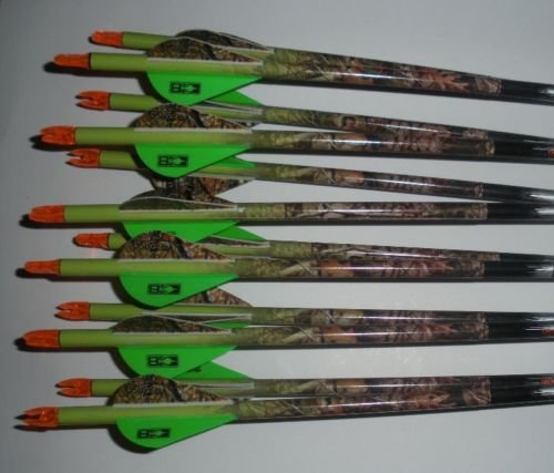 Carbon Express Predator II 6075 Carbon Arrows w/Blazer Vanes Vista Camouflage Wraps 1 Dz. (Carbon Express 6075 compare prices)