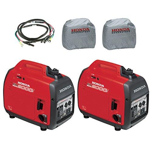 Honda 2-Piece EU2000i 2000W Generator, 2-Piece Inverter with Silver Cover and Parallel Cord (Honda Generator Cover Eu3000i compare prices)