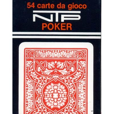 NTP Poker Floreale Standard Index Plastic Playing Cards (Red) - 1