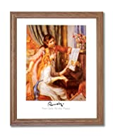 Renoir Two Girls At The Piano Home Decor Wall Picture Oak Framed Art Print