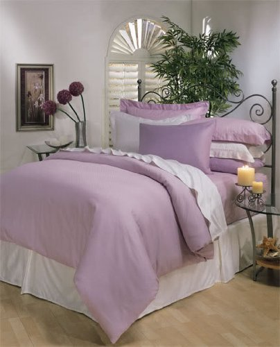 Italian 300 Thread Count Egyptian Cotton Duvet Cover Set , King, Lavender Solid, Premium Italian Finish front-941824