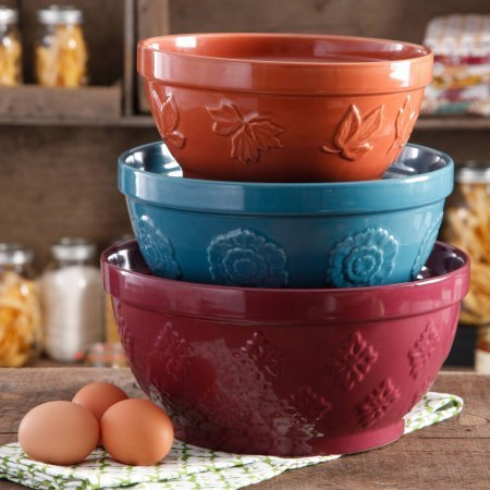 3-Piece, Cornucopia Mixing Bowl Set, The Pioneer Woman (Microwavable Mixing Bowl Set compare prices)