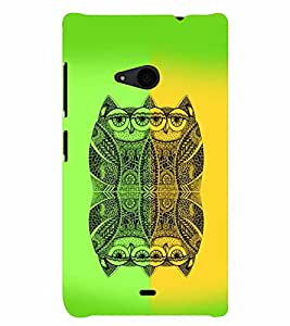 PrintVisa NOK535-Birds Modern Art Owl Back Cover (Multicolor)