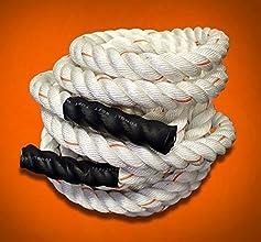 Poly Dacron Training Fitness Battle Exercise Undulation Rope - 40 FT x 2quot White