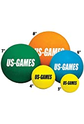 Us-Games Uncoated Economy Foam Balls