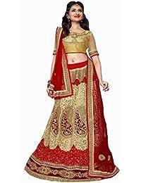 Aryan Fashion Designer Cream Banglory Silk Nd Net Embroidery Work Semi-Stitched Wedding Lehenga Choli