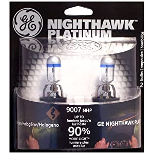 GE Nighthawk PLATINUM Headlight Bulbs (2-Pack) $10 AR