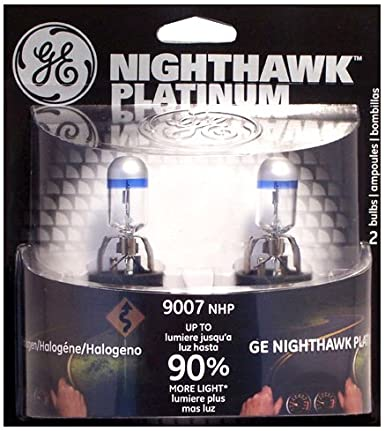 GE 9007NHP/BP2 Nighthawk PLATINUM Headlight Bulbs, Pack of 2 ,$12.79