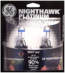 GE 9007NHP/BP2 Nighthawk PLATINUM Headlight Bulbs, Pack of 2
