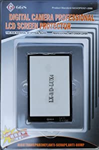 GGS Optical Glass LCD Screen Protector for Leica D-lux 4 and Panasonic Lx-3 Digital Cameras