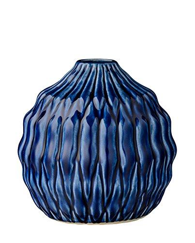 Vase, Heavy Structure, Navy Ceramic Ø15xH15 cm