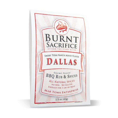 Burnt Sacrifice Gourmet BBQ Spice Rub - Dallas Style - Single Use Case Of 6