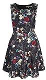 Yumi Ladies YOAD50 Bling Floral Print Skater Dress Black