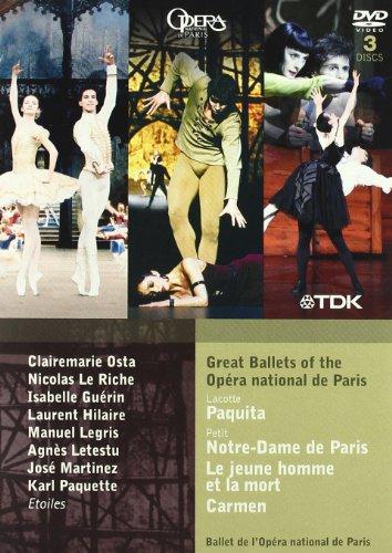 Various: Ballets Opera National Paris (Paquita;  Notre Dame De Paris;  Le Jeune Homme Et La Mort;  Carmen) [DVD] [2010] [NTSC]