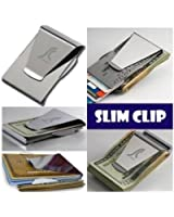 Slim Stainless Steel Money Clip Double Sided Credit Card Holder - Silver