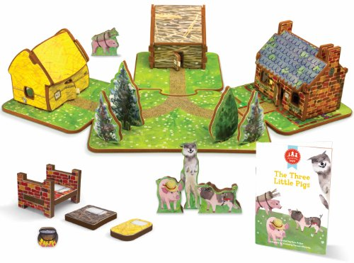 Find Discount The Three Little Pigs Toy House and Storybook