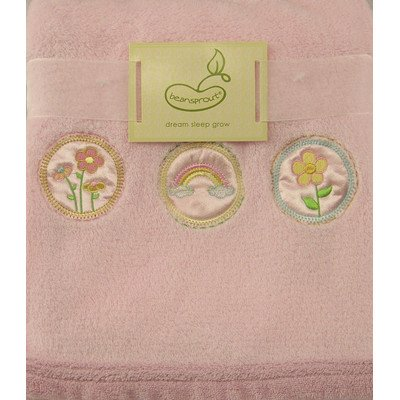 Beansprout Dream Sleep Grow Baby Blanket 30X36in, Pink, Rainbow/Flower - 1