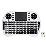 GB-Tech 2.4GHz Wirelesss QWERTY Touchpad Keyboard Mouse with Receiver White
