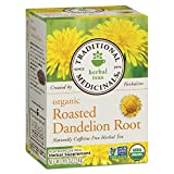 Traditional Medicinals Organic Roasted Dandelion Root Tea, 16 Tea Bags (Pack of 6)