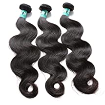 Msbeauty Hair Peruvian Remy Hair Body Wave 3 Bundles Total 300g Grade 5A Unprocessed Virgin Human Hair Weave Weft Mixed Length(26 28 30) Natural Color Tangle-free