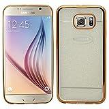 Samrick �tui m�tallique givr� Slimline �tui Coque de Protection en Gel pour Samsung Galaxy S6�-�Or