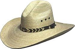 BULL-SKULL HATS, PALM LEAF COWBOY HAT, GUS 506