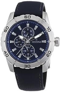 Festina Herren-Armbanduhr XL Analog Quarz Leder F16607/2