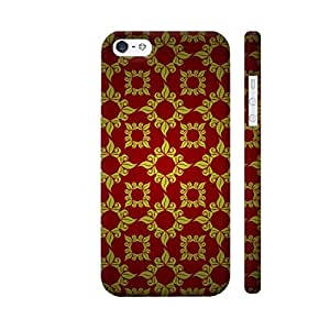 Colorpur Antique Vintage Style On Red Designer Mobile Phone Case Back Cover For Apple iPhone 5 / 5s | Artist: WonderfulDreamPicture