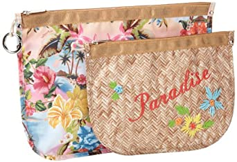 LeSportsac Binded Pouch Set Cosmetic Case,Tropical Punch,One Size