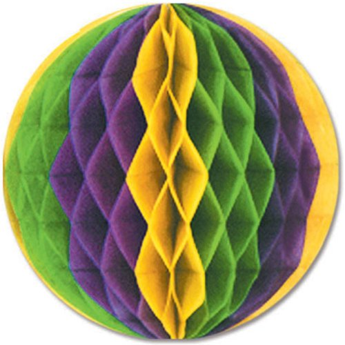 Mardi Gras 12-Inch Tissue Ball Decoration