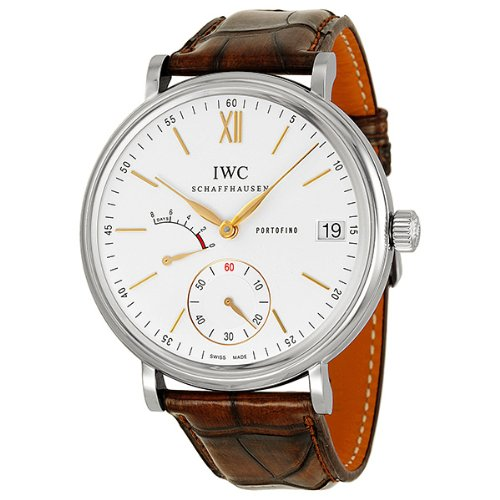 IWC Portofino Hand Wound Eight Days Silver Dial Mens Watch IW510103