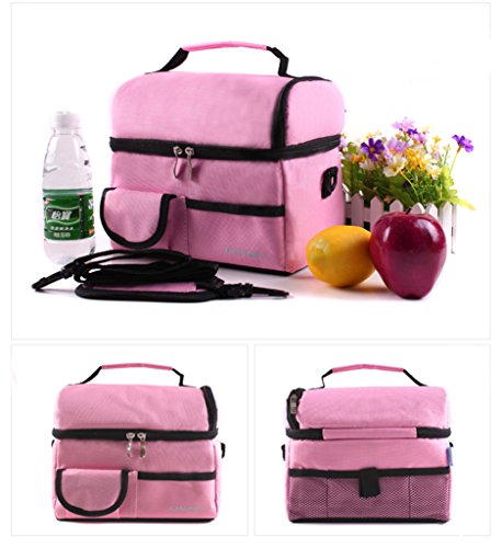 Picnic BBQ Waterproof Food Container Lunch Bag Keep Food Hot Cold Fresh Allerbaby Ice Bag (Pink)