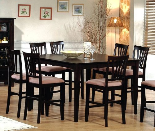 Buy Low Price Coaster Contemporary Cappuccino Wood Counter Height Dining Table (VF_AZ00-9286×30591)