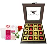 Innovative Treat Of Wrapped Chocolates And Truffles With Love Card And Rose - Chocholik Luxury Chocolates