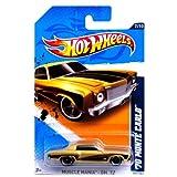 Hot Wheels 2012 Hot Wheels Muscle Mania - GM 70 Monte Carlo Gold #107/247